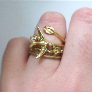 Jewelry - 4 piece Sparrow Ring Set, Burnish Gold
